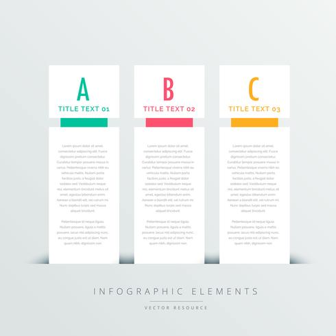 three vertical banners infographic design template