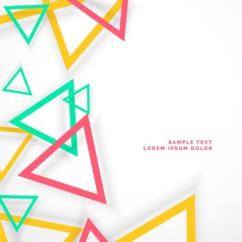 abstracte kleurrijke driehoeken met schaduw