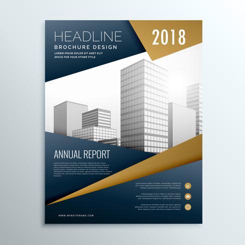 modern dark business flyer brochure design template vector with