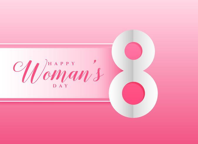 rosa Hintergrund für den Tag der glücklichen Frauen