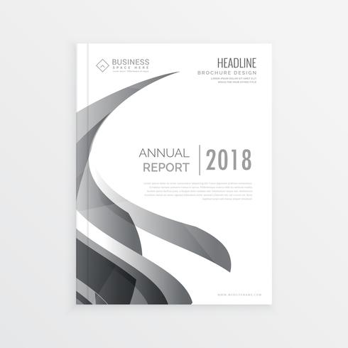 Stylish Business Magazine Cover Page Template For Annual Report