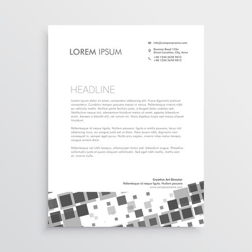 abstract mosaic letterhead design template