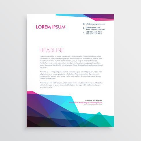 design creativo di carta intestata vibrante