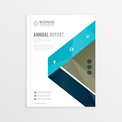 business identity cover page brochure design with abstract shape