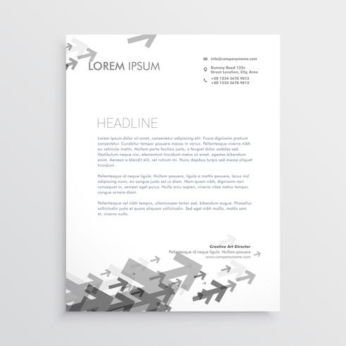 gray arrow letterhead design template