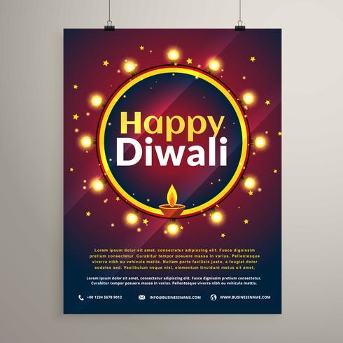 Happy Diwali Festival Einladung Grußvorlage