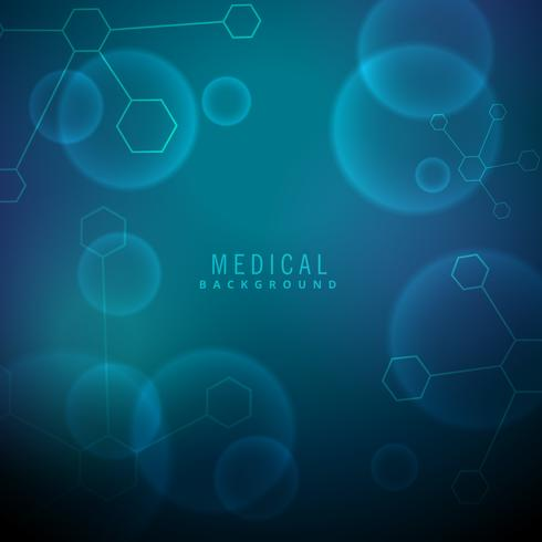 medical background with molecules and chemical elements