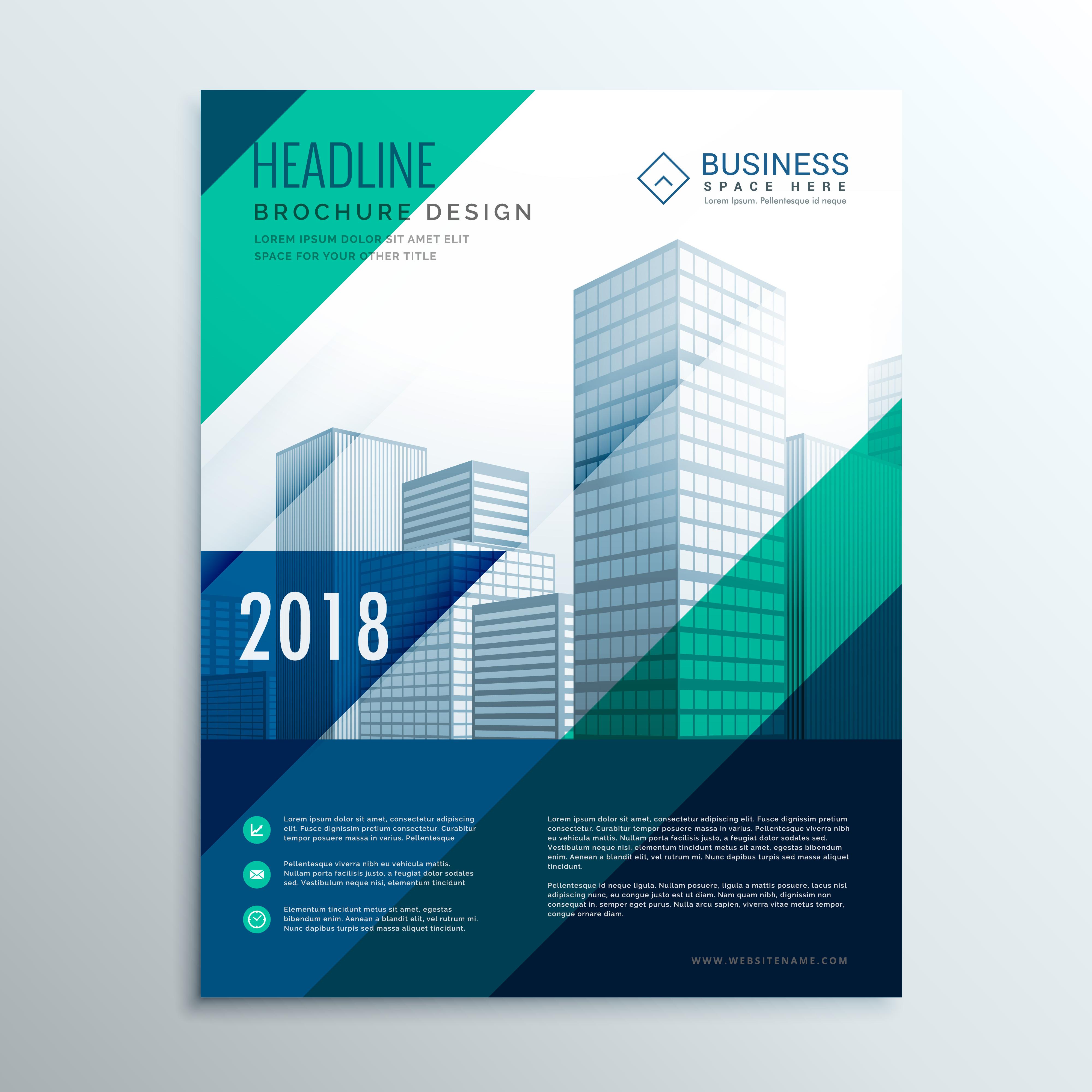 creative brochure template - creative blue brochure design template design with