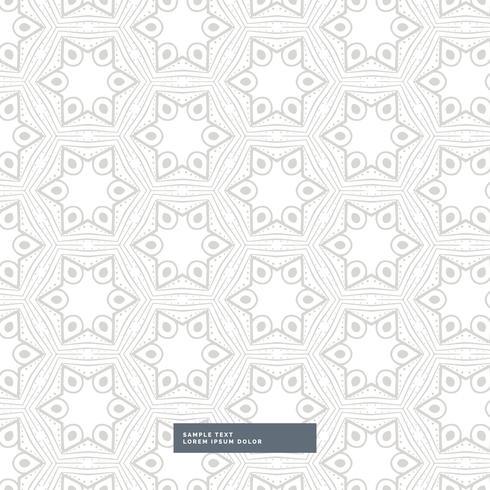 graues Muster der geometrischen Form auf weißem Hintergrund