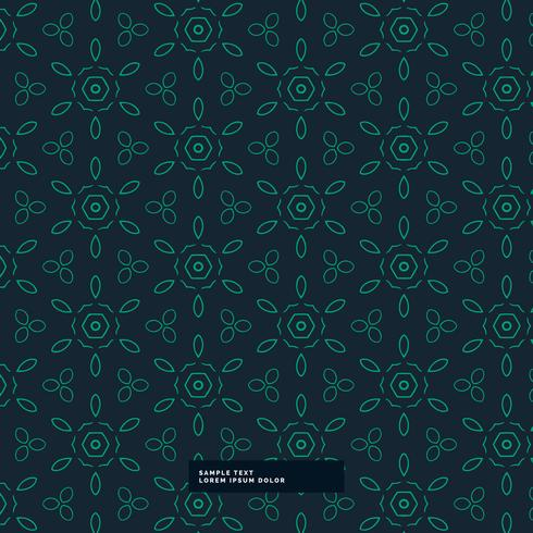 green flower pattern in dark background