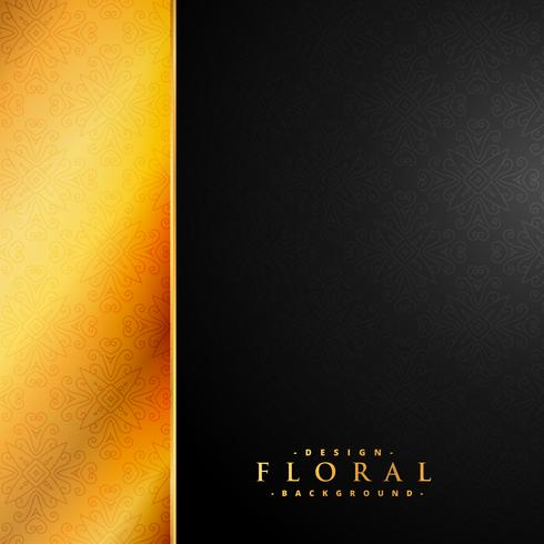 gold and black vintage luxury floral background