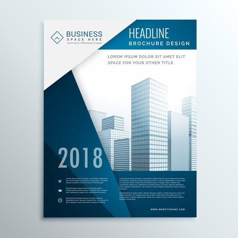 vector business brochure leaflet cover page design for annual report ve