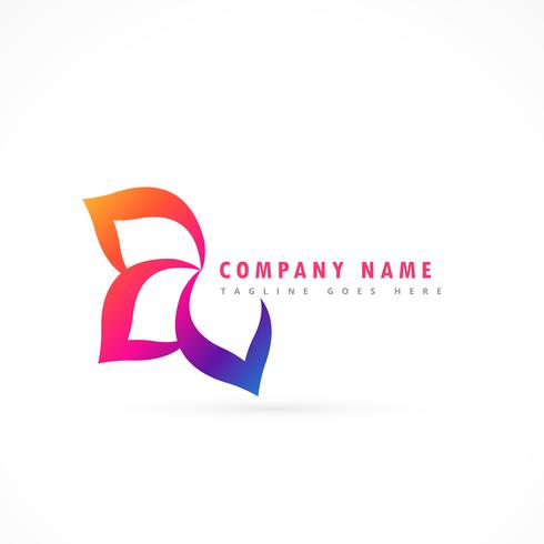 flower logo design template
