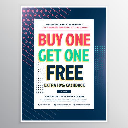 discount voucher template design for promotion