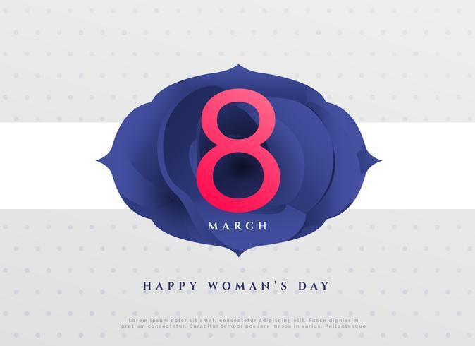 elegant 8th march happy women's day background