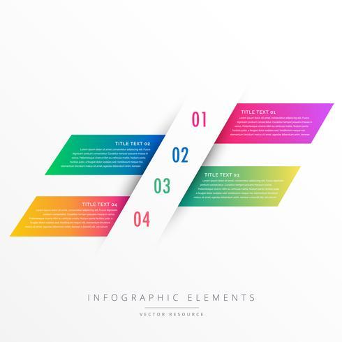 kreative vier Schritte Infografik Banner