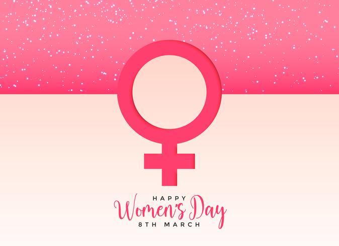 Female Gender Symbol On Beautiful Pink Background Download Free