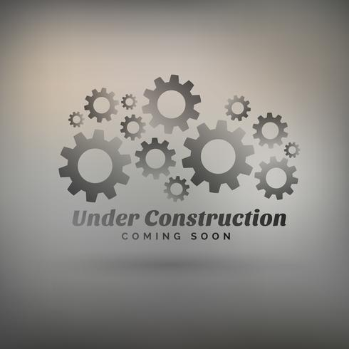 gray background with gears and under construction text