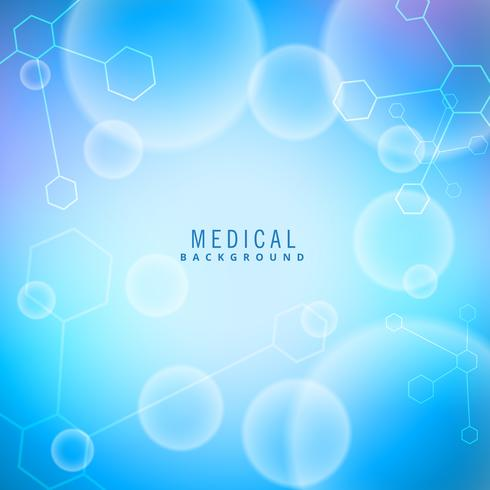 medical background with molecules