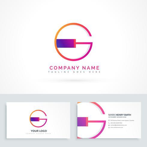 letter G logo design template