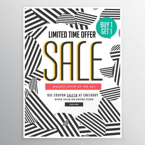 conceito de design moderno venda cartaz cartaz banner