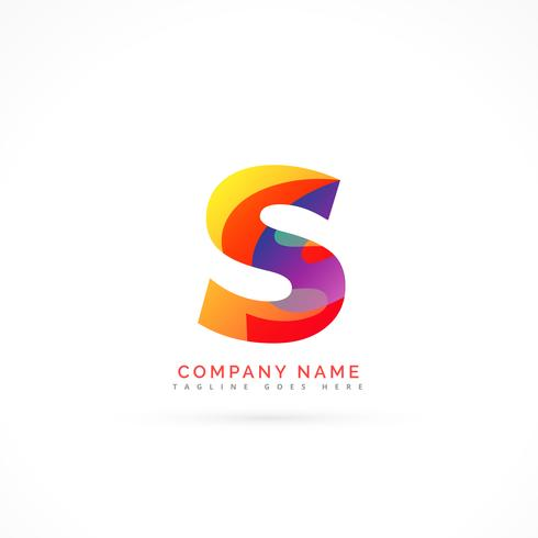 abstract letter s shape logo design