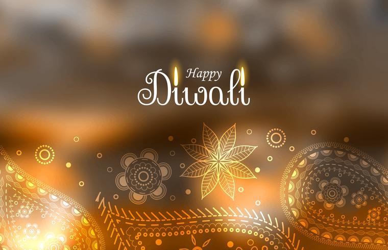 beautiful diwali greeting background with paisley decoration
