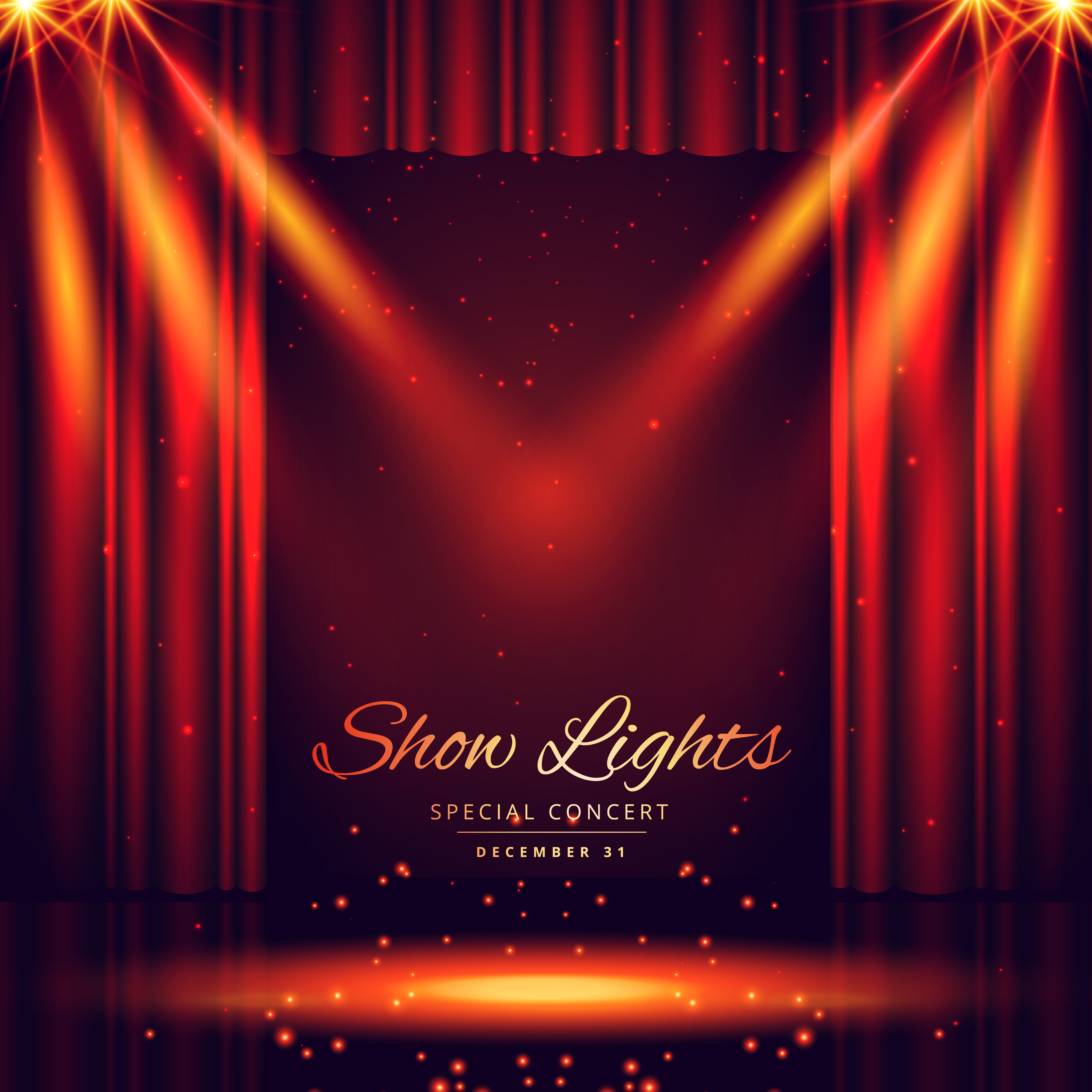 Theater Lights Background