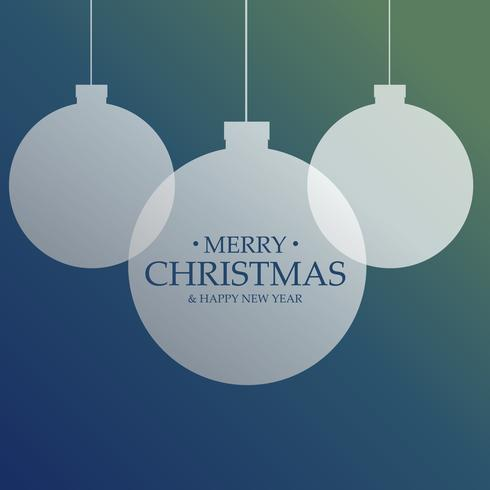 clean christmas balls decoration festival greeting background