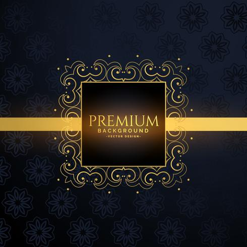 luxury golden frame with text space
