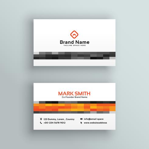 abstract mosaic style business card design