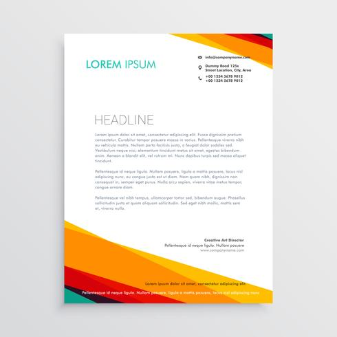 abstract colorful letterhead design template for your company