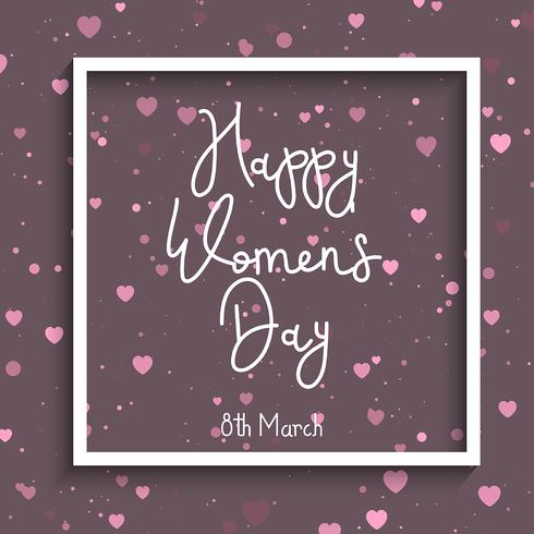 Women's Day heart background
