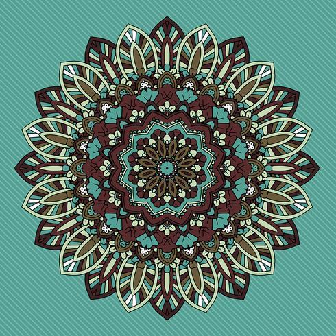 Design de mandala com estilo retrô decorativo