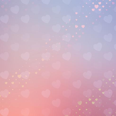 Pastel hearts Valentine's Day background