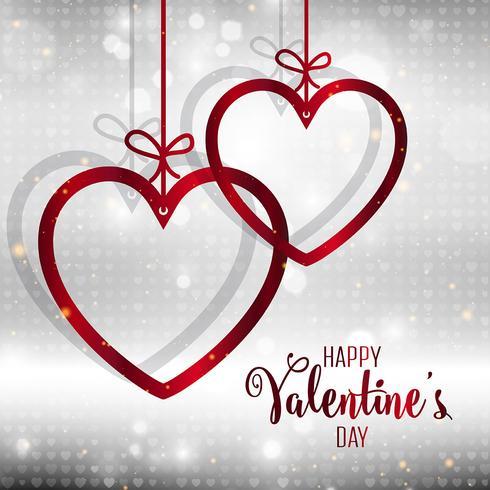 Fondo decorativo del corazón del día de San Valentín