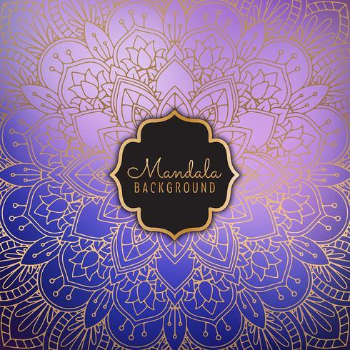 Eleganter Mandala-Hintergrund vektor