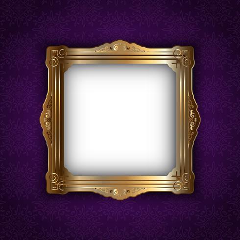 Gold frame on elegant background
