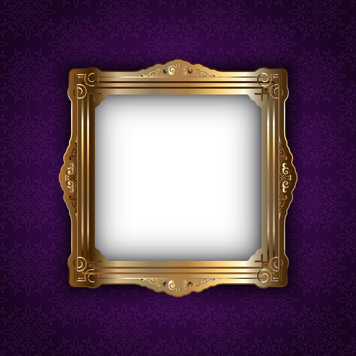 Elegant Frames Free Vector Art