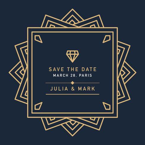 Dunkle Art-Deco-Hochzeit
