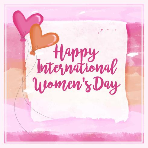 Composition aquarelle de Vector International Women's Day