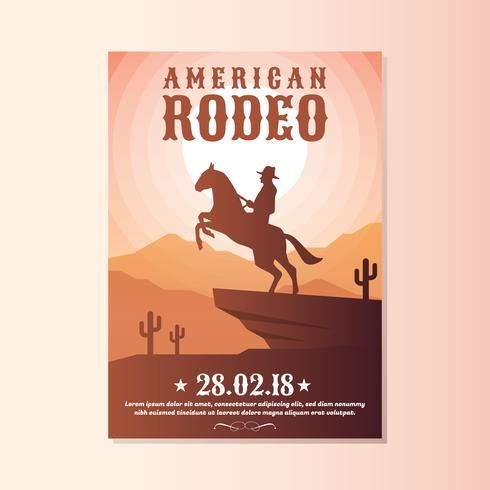 Wild West With Cowboy Rodeo Show Flyer Templates