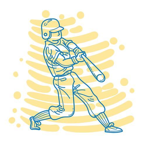 Abstrakter Baseball-Spieler