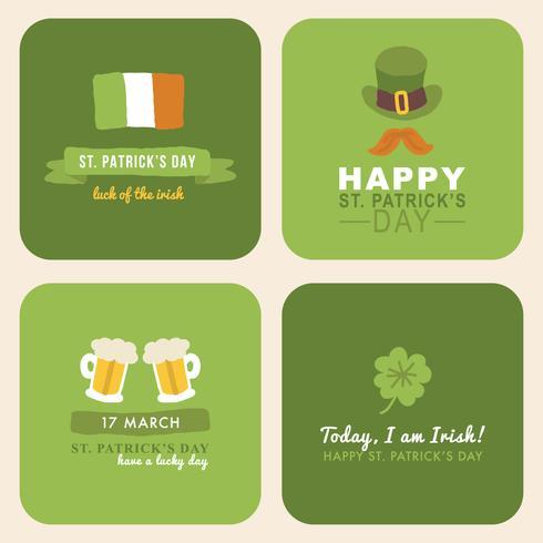 Schriftzug für St. Patrick's Day