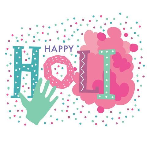 Nette glückliche Holi-Beschriftung