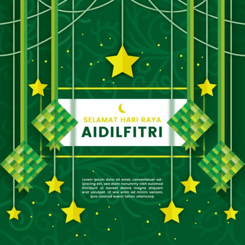 Ilustración de Selamat Hari Raya Aidilfitri vector
