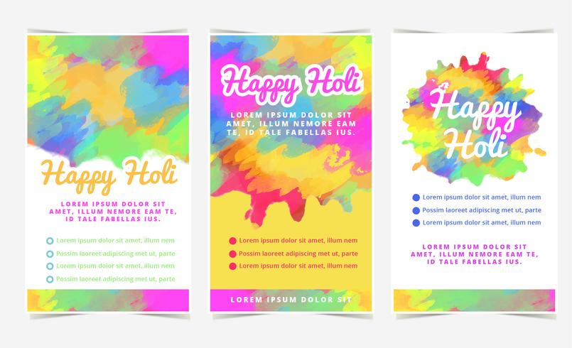 Vector Holi Celebration Banners