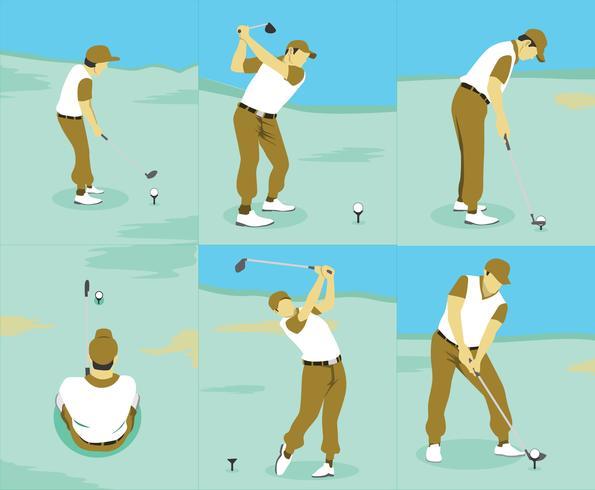 Golf Technieken Vector