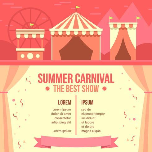 Affiche de carnaval d'été vecteur libre