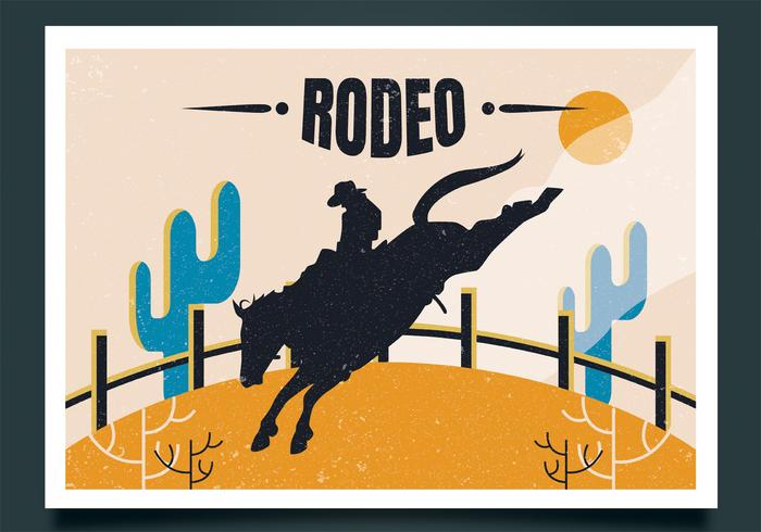 rodeo flyger vektor design